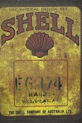 Australian Shell One Gallon EG 174 Motor Oil Tin