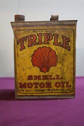 Australian Shell One Gallon Triple Motor Oil Tin