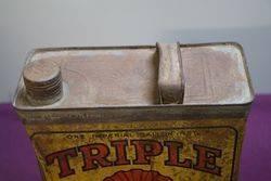 Australian Shell One Gallon Triple Motor Oil Tin