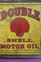 Australian Shell One Gallon Double Motor Oil Tin