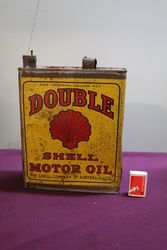 Australian Shell One Gallon Double Motor Oil Tin