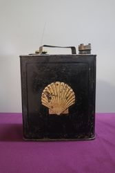Early Shell 2 Gallon Can and Shell Oil Tin Insert