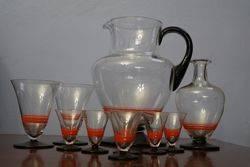 10 Piece Arc Deco Drink Set