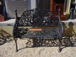 CAST IRON 2 SEATER LOVE SEAT    GF44
