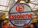 ROUND ESSOLENE DOUBLE ENAMEL SIGN   SA161