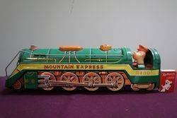 Battery Operated  Vintage Tin Litho Mountain Express  Train 3430