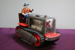 TN Japan Lited  Piston Action Tractor Toy