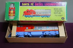 TM Japan Battery Operated Santa Fe Diesel Locomotive