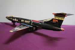 US Air Force BK02VF Tin Bomber Airplane Friction Litho Tin Toy