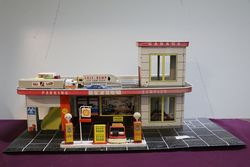 2 Floor Tin Toy Shell  GarageService Station   Has 2 Shell  Petrol Pump  Lift