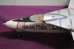Battery Operated GeneralDynamics Grumman F IIIA Tin and Plastic Jet Fighter