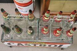 Wakefield Castrol Enamel Front 12 Oil Bottle Rack