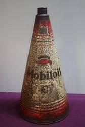 Gargoyle Mobiloil  BB 2 12 Gallons Oil Cone Can