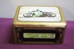 Large EC Estrosi Pictorial Race Bike Tin