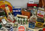 Genuine Assorted Automobilia Containers And Signs --- Auto 11