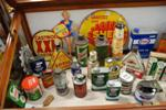 Genuine Assorted Automobilia Cans And Signs --- Auto 10
