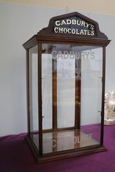 Antique Cadbury+39s Chocolate Counter Top Display Cabinet