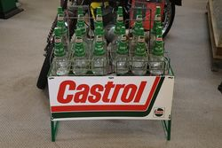 Enamel Front Castrol L 12 Bottle Oil Rack