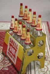 Enamel Front Shell X100 Motor Oil 10 Bottle Oil Rack