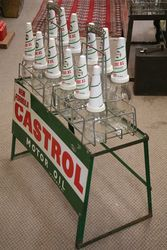 Enamel Front Castrol 12 Bottle Oil Rack