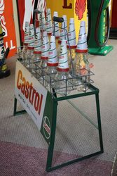 Enamel Front Castrol L  2 Bottle Oil Rack