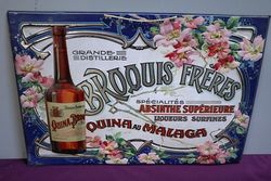 Early C20th Embossed Broquis Freres Tin Sign