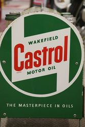Castrol Z Basket Rack With Castrol Enamel Signs To Each End