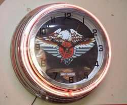 Harley Davidson Clock Light Box