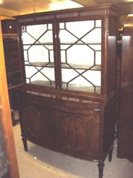 Wonderful Quality Edwardian Mahogany 2 Door Bookcase