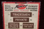 Maison Bronze Plates Advertising Card