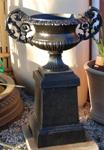 Medium Cast Iron Urn On Base