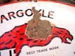 GARGOYLE PUMP TOP DOUBLE ENAMEL SIGN     SA135