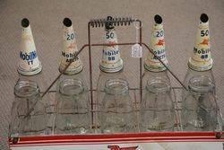 Mobiloil Motor Oil Bottles Rack with 10 Original bottle
