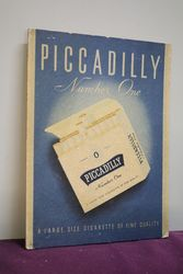 Piccadilly Number One Cigarettes Advertising Card