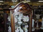 FRENCH SERPENTINE SHAPED VITRINE    -------ANT 8