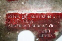 Vintage Mobile Home Kerosene Drum Stencil