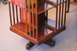 Antique Walnut Revolving Bookcase