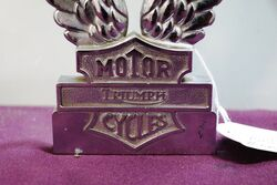 Triumph Motor Cycles Twin Wings Badge