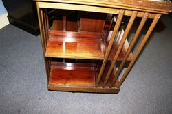 Early C20th Antique Walnut Revolving Bookcase