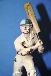 Vintage Cricket Cold Painted Bronze Batsman