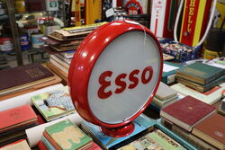 6 inch Esso Metal Canteen with Original Glass Lenses