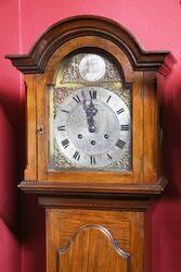 Early C20th English Walnut Grandmother Clock