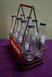 A Good Mobiloil 8 Division Oil Bottle Crate