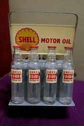 Superb Shell X100 Motor Oil 8 Bottle Rack