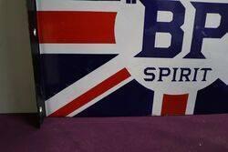 A BP Motor Spirit Union Jack Double Sided Enamel Sign