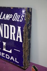 Early + Rare Antique Alexandra Oil Double Sided Enamel Sign