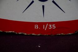 Esso Ethyl Round Double Sided Enamel Sign