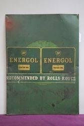 BP Energol Metal Tin Advertising Sign