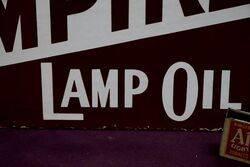 Early EmpireBearcreek Post Mount Enamel Sign