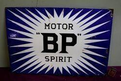 BP Motor Spirit Irish Flash Double Sided Enamel Sign